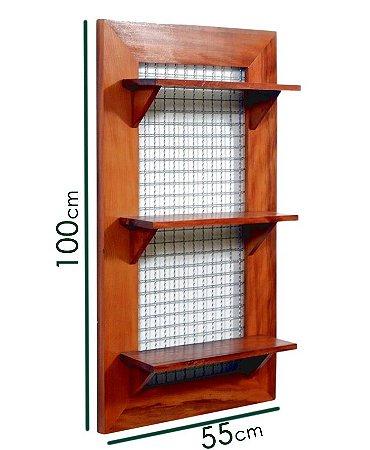 Painel Nobre para sua Horta / Jardim / Floreira Vertical com 3 prateleiras