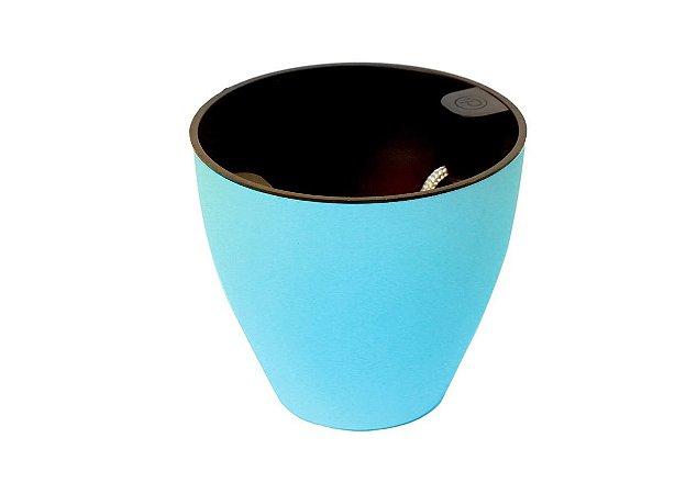 Vaso Auto Irrigável Plantiê Fosco - Azul - LINHA PREMIUM