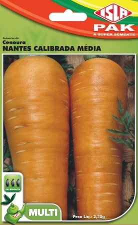 CENOURA NANTES CALIBRADA MEDIA - Semente para sua horta - Isla Multi Pack