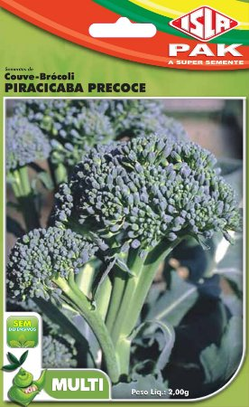 COUVE-BROCOLIS PIRACICABA PRECOCE - Semente para sua horta - Isla Multi Pack