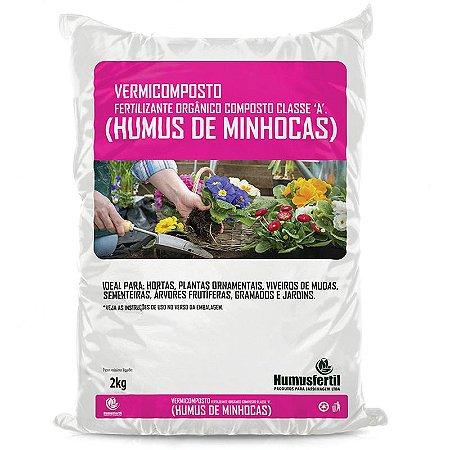 Húmus de Minhoca - Vermicomposto Orgânico - Humus Fertil - 2 Kg