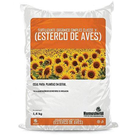 Esterco de Aves - Fertilizante orgânico Classe A - 1,6 Kg
