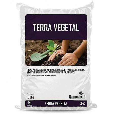 Terra Vegetal Para Hortas e Jardins - Humus Fertil - 1,6 Kg