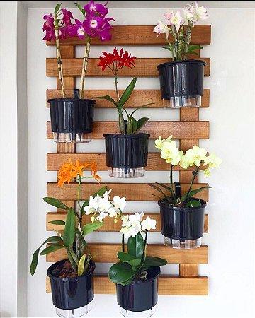 Horta / Jardim Vertical Imbuía de 6 vasos Auto Irrigáveis N3