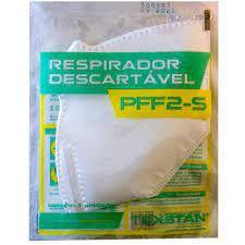 Máscara PFF2-S (N95) Texstan  Cor Branca Kit 20 un.