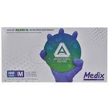 Luva Nitrílica Amg s/pó violeta C/100 - medix