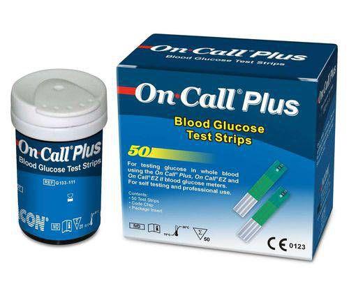 Tiras para Teste On Call Plus 50 Unidades