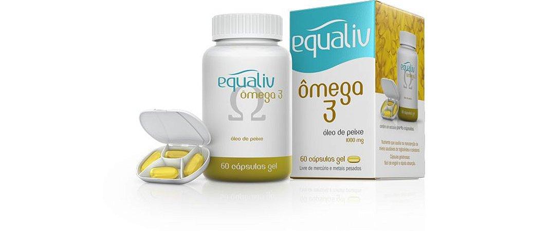 Omega 3 Equaliv Óleo de Peixe 1000mg 120 cáps gel