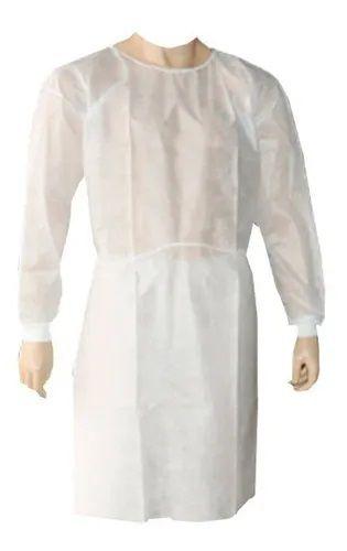 Avental Descartável Manga Longa branco  C10