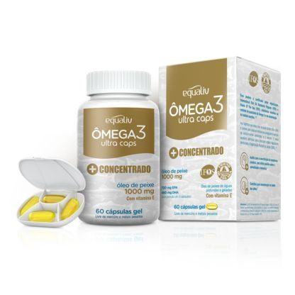 Equaliv Ômega 3 Ultra caps 1000mg 60 cápsulas gel