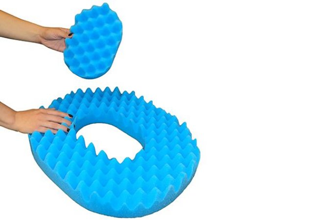 Forração Ortopédica Oval Azul Salvapé