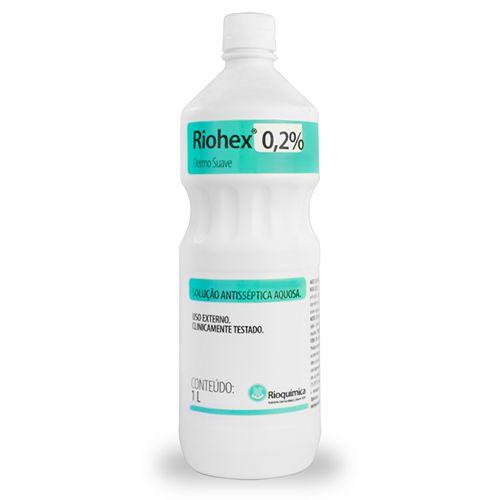 Riohex 0,2% Digliconato de Clorexidina Antisséptico Aquoso 1 Litro Rioquímica