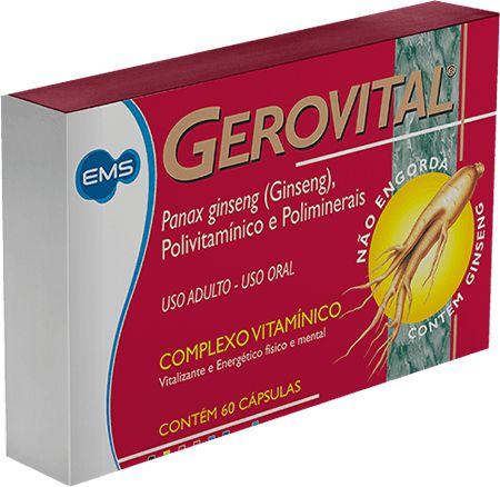 Gerovital Complexo Vitamínico Com 60 Cápsulas