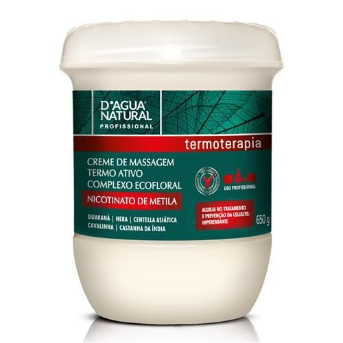 Creme de Massagem Termo Ativo Complexo Ecofloral D'Água Natural
