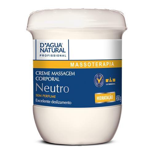 Creme Massagem Corporal Neutro Massoterapia D'água Natural