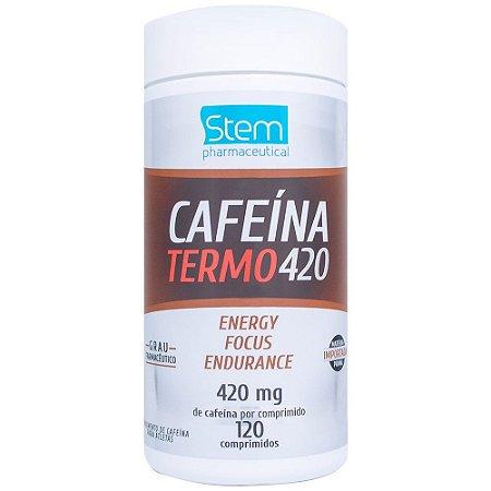 Cafeína Termo 420 , 420 mg e 12 cápsulas Stem