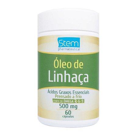 Óleo de Linhaça  500 mg 60 cápsulas Stem