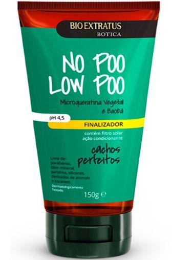 No Poo Low Poo Finalizador Microqueratina Vegetal Baobá e Óleo de Coco 150G  Bio Extratus