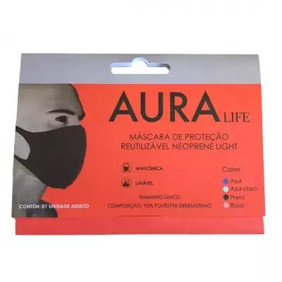 Mascara Aura Life Neoprene Light Lavável