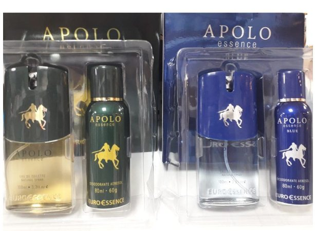 Kit Deo Col+Des Aerossol  Apolo Euro Essence  (Polo ou Blue)