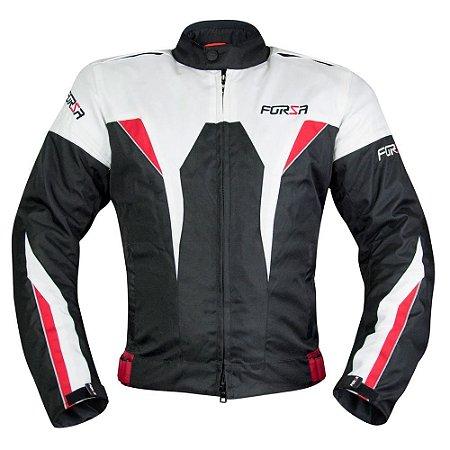 Jaqueta Forza Sports Gavia Branca Vermelha