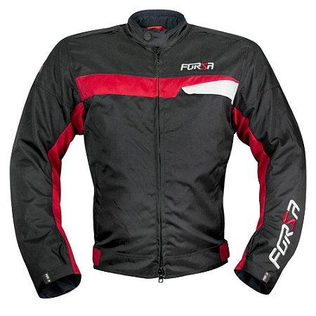 Jaqueta Forza Sports Manghen Preta Vermelha