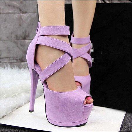 Sapato Salto Alto Feminino Cinta Romana