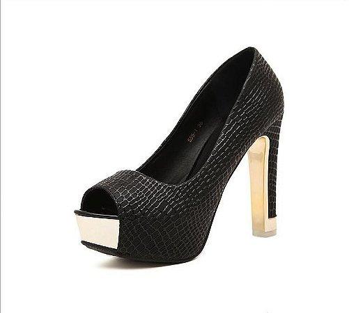 Sapato Salto Alto Quadrado