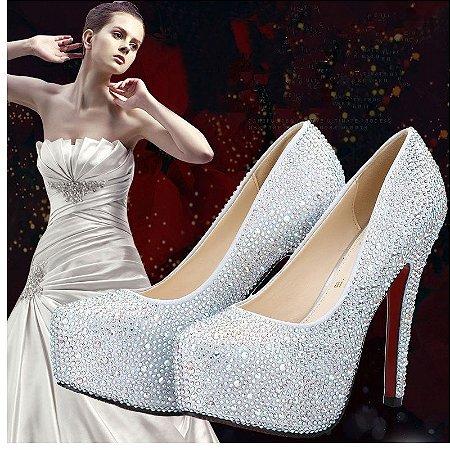 Sapato Salto Alto Cristal Casamentos