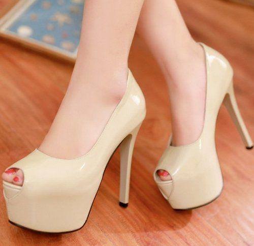 Sapato Salto Alto Peep Toe Nicole