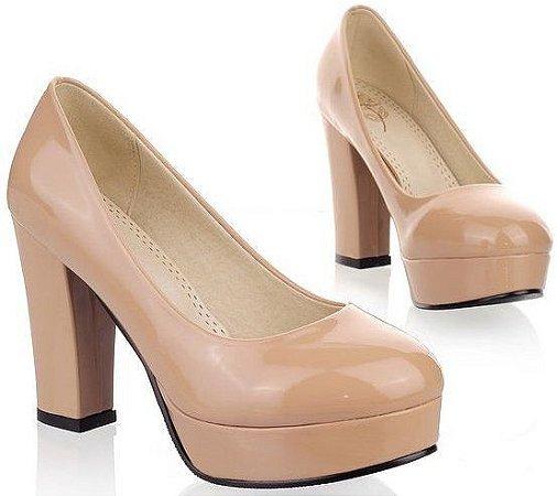 Sapato Salto Alto Quadrado Nina
