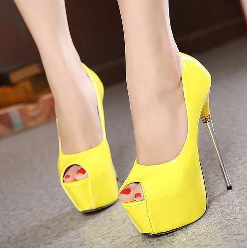 Sapato Salto Alto Sexy Verão