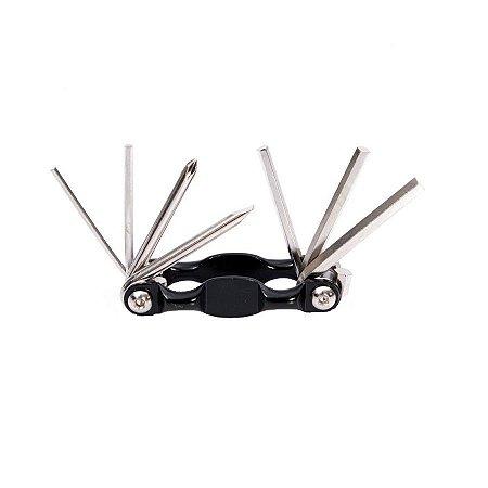 Canivete de ferramentas para bike Rava 7 peças