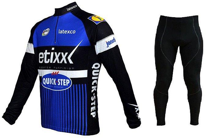 Conjunto de ciclismo Etixx (calça + camisa manga longa) - ERT Cycle Sport