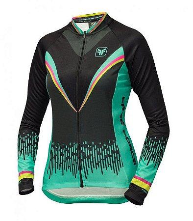 Camisa de ciclismo feminina manga longa Victory Preta - Free Force ... bdaa8bb282495