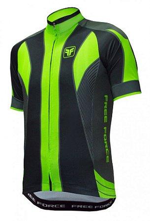 Camisa de ciclismo Blaster verde flúor - Free Force - Roupas para ... 5a54d3ce60