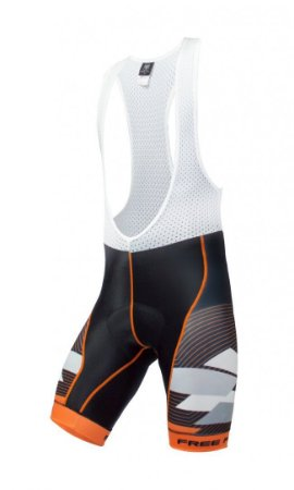 Bretelle de ciclismo Advance Preto/Laranja - Free Force