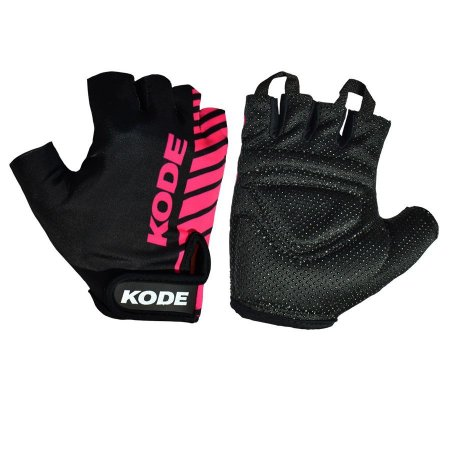 Luva de ciclismo Stripes Preto/Pink - Kode