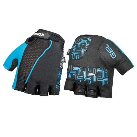 Luva de ciclismo Gel New Tech Preto/Azul - Kode