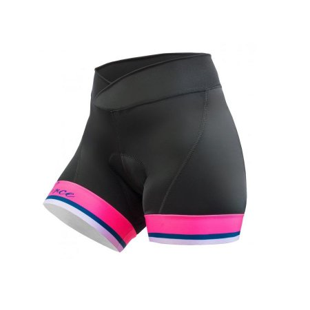Short de ciclismo Malibu Preto/Rosa - Free Force
