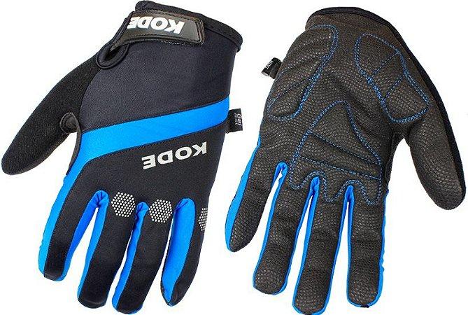 Luva de ciclismo dedo longo Sealskingz Preto/Azul - Kode