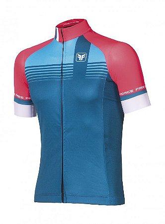 Camisa de ciclismo Kirk Azul - Free Force