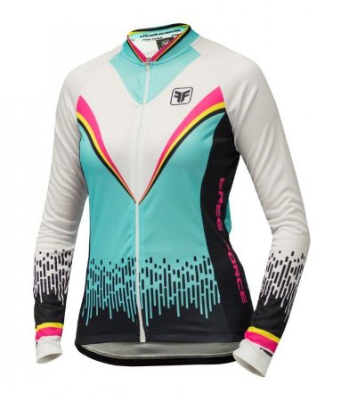 Camisa de ciclismo feminina manga longa Victory Branca - Free Force ... 44ca5ec9ba701