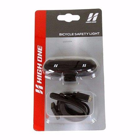 Farol traseiro Vista Light 1 led c/ recarga usb - High One