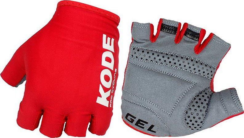 Luva de ciclismo Cycling Pro Gel Vermelha - Kode