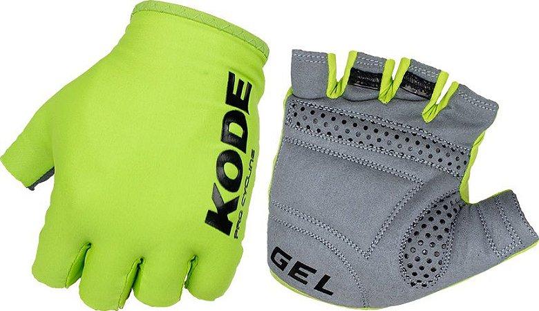 Luva de ciclismo Cycling Pro Gel Verde Flúor - Kode
