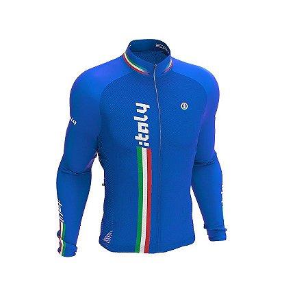 Camisa ciclismo manga longa Italy ERT