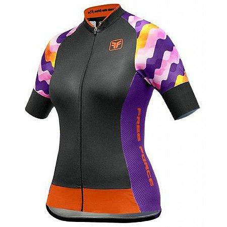 Camisa ciclismo feminina Ripple Free Force