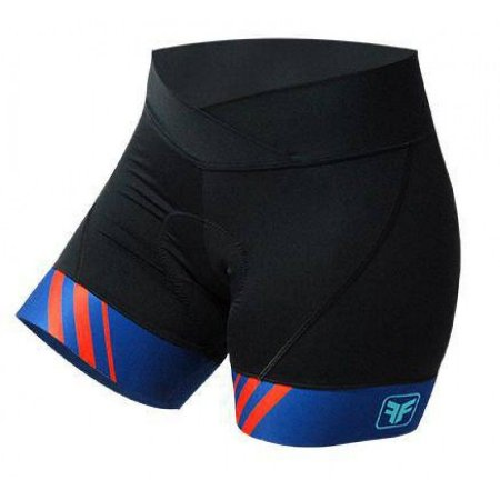 Short para ciclismo feminino Stripes Free Force