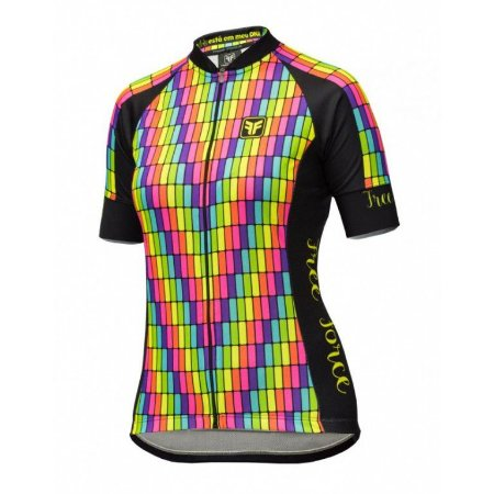 Camisa ciclismo feminina Display Free Force